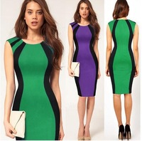 Fashion fashion new arrival women's sleeveless slim hip slim one-piece dress pencil skirt