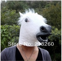 2014  Popular horsr head mask Cosplay same as horse head props animal mask Latex Rubber New Creepy three colors