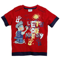 Freeshipping CD1239# Nova boys summer cotton short sleeve T-shirt with embroidery and printing
