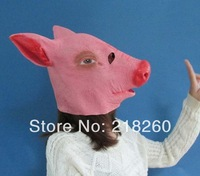 2014  Popular pet pig head mask Cosplay same as horse head props animal mask Latex Rubber New Creepy