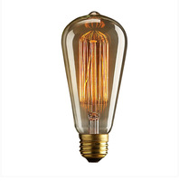 Edison ST64 lighting creative personality of retro nostalgia lighting bar clothing shop DIY OSRAM