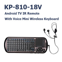 5 Pcs/lot iPazzPort  Wireless Keyboard KP-810-18V Voice Remote 2.4G RF Air mouse controller for TV BOX Touchpad 2 in 1 Russian