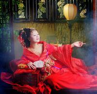 Female costume hanfu datang women's train gorgeous tang suit tang dynasty
