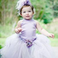 Ellies bridal female child dress princess dress flower girl skirt child wedding dress costume fashion normic