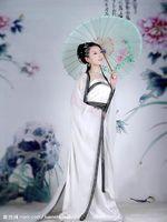 Elegant white 2011 female costume photo service tang suit hanfu