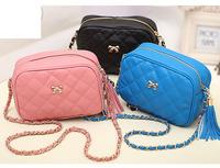 2014 Casual arrive Ms. packet chain shoulder Messenger Bag women Leather handbags