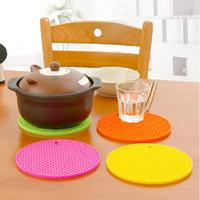 Candy color waterproof mat heat insulation pad silica gel mat pot bowl pad 4pcs/lot