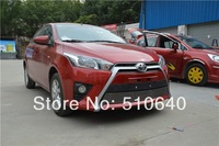 High quality stainless steel Front Grille Around Trim Racing Grills Trim For 2013-2014 Toyota Yaris Lmj j