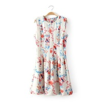 New2014  Women Summer Print  Sleeveless  dresses