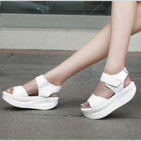 NEW SUMMER all-match women platform sandals korean style oppen peep toes Roman Shoes women's wedge high heel sandals PP021
