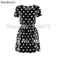 Polka dot one-piece dress elegant one-piece dress basic  classic all-match 6 haoduoyi  free shipping
