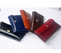 2014 new women's fashion famous brand zipper long style snaps oil wax leather business casual clutch purse free shipping