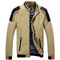 2014 spring new high-end men's casual jackets For men stitching jacket Free Shipping 122082
