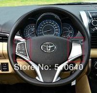 ABS Chrome Steering wheel cover Steering wheel decoration 2014 Toyota VIOS bjk