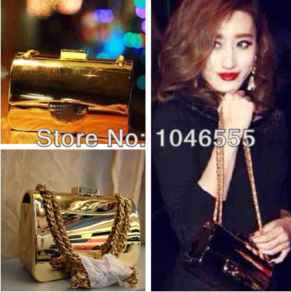 Spring 2014 Brand design classic Small women's handbag Fashon Bag Mini XC-00061Clutch 17cm 18 K Gold Free Shipping(China (Mainland))