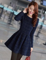 5 times . sweet puff sleeve dress long-sleeve basic skirt