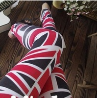 FREE SHIPPING The new spring and summer 2014 MiZiQi nine minutes of pants mizi leggings in the British flag