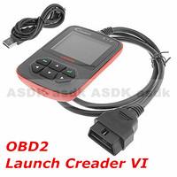 HOT!! Diagnostic Tool, Creader VI OBD2 AUTO SCANNER, Creader 6 code reader CREADER VI, free shipping