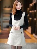 N 2013 small fresh all-match slim woolen vest one-piece dress