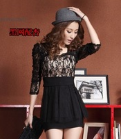 2013 women's tube top slim one-piece dress plus size one-piece dress