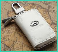 Genuine leather Hyundai car key holders cases pockets for Hyundai ix35 i30 Sonata Elantra auto car accessories free shipping