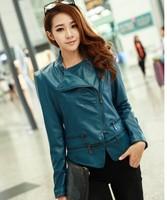 Female 2013 autumn women jacket leather clothing leather clothing female slim