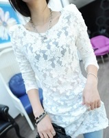 2013 hydrotropic lace slim lace shirt basic skirt