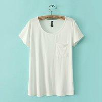 Spring and summer new arrival women's slim elastic modal big o-neck short-sleeve T-shirt basic shirt