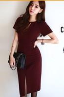 Free SHIPPING cotton summer dress sexy slim Korean dress hollow inside the New South Korean dress