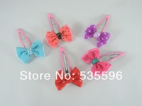 Free Shipping New Kids/Girls/Princess/Cute Dot Ribbon Bowknot hairpins/ Hairgrips/children hair accessories