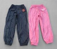 Spring 2014 design pu classic trouser   Child rain pants male Women trouser reflective