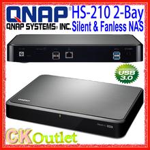 Brand New QNAP HS-210 2-Bay Silent & Fanless RAID Home Soho Cloud Media File USB 3.0 SATA NAS Bulk w/1 Year Warranty (Free Gift)(China (Mainland))