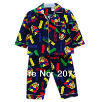 5 pcs/lot Free shipping  fireman boys blue flannel flannelette  winter pyjamas pajamas sleepwear Pjs