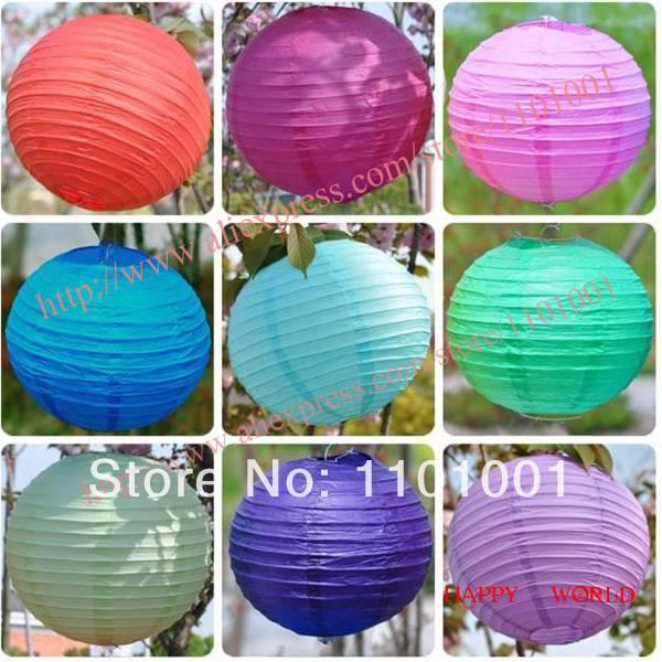 2014 the hot sale Round Violet Purple Chinese Paper Lantern 8'' 20 cm Wedding Party Decoration(China (Mainland))