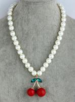 Vivi New Arrival Spiritualism Cherry Pearl Necklace Female