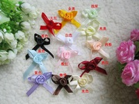 Diy clothes accessories handmade flower ribbon flower rose flower ribbon flower bow 2.4*3CM FREE SHIPPING