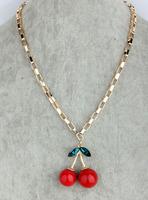 Vivi New Arrival Beautiful Cherry Necklace Female Short Design Accessories