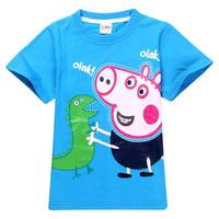 2014 New Arrival Fashion Baby Clothing Peppa Pig 100% Cotton Boy T Shirt Short Sleeve For Children's Tshirts