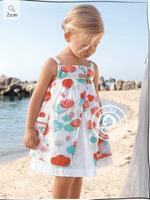 2014 New Baby Toddler Girl Fantasy Flower Dress Brand Children Summer Spring Clothing Print Princess Casual Cotton Dress