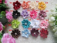Diy handmade flower 3cm lotus ribbon flower candy box packing flowers ribbon flower FREE SHIPPING