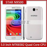 "star N9500 Smart Phone Android 4.2 MTK6582 Quad Core 5.0"" HD 1280*720 Screen 8MP Camera 1G RAM 4G ROM android phone free case"