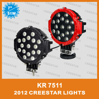 Pair of 51W LED Driving Lights 7INCH Spot Off road 4x4 4wd offroad lights Replace HID 12v 24v KR7551 creestar DHL free shipping