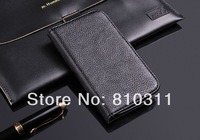 Luxury Litchi skin PU leather wallet pouch stand flip case cover for MEIZU MX2 MX 2 Top quality protective bag