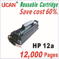 Free Shipping UCAN 12a Reusable Toner Cartridge for HP q2612a  2612a   12a  Toner Cartridge ,    12,000 Pages/6 periods
