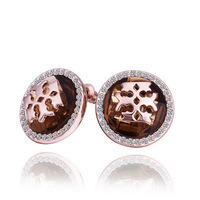 free shipping 18 K gold plated earrings Genuine Austrian crystals earrings,Nickle free antiallergic factory price E366