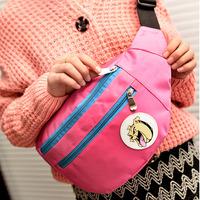 2013 male chest pack neon color block messenger bag female waist pack vintage fashion bag casual bag