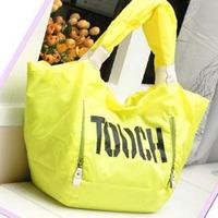 Freeshipping best selling 2015 spring waterproof sports neon bag super large capacity beach bag female shoulder bag big bag