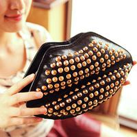2014 women's handbag fashion rivet bag chain one shoulder day clutch small cross-body bag