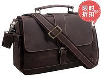 Man bag vintage man bag male commercial genuine leather briefcase shoulder bag messenger bag handbag 9917