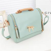 2013 fashion candy color sweet fashion vintage handbag cross-body women's handbag one shoulder bag